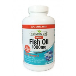 Natures Aid Omega-3 1000mg 33% Extra Free, 90 + 30 Softgels