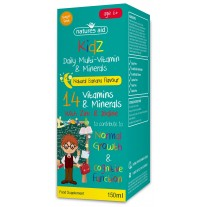 Natures Aid Kidz Multi-Vitamini in Minerali za otroke, 150 ml