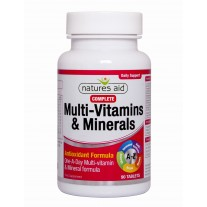 Natures Aid Multi-vitamini in minerali z antioksidanti, popolna formula, 90 tablet