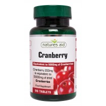 Natures Aid Cranberry 5000mg, 90 tablets