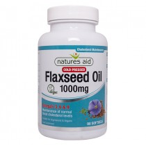 Natures Aid Flaxseed oil 1000mg, 90 capsules