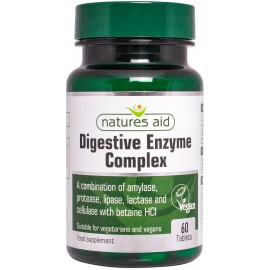 Natures Aid Digestive Enzyme Complex (with Betaine HCl), 60 tablets