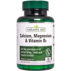 Natures Aid Calcium, Magnesium & Vitamin D3, 90 tablets