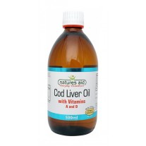 Natures Aid Cod Liver Oil (with Vitamin A & D), 180 capsules