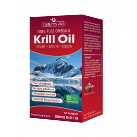 Natures Aid Krill Oil 500mg, 60 capsules