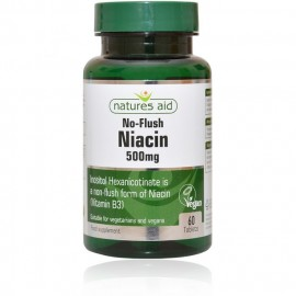 Natures Aid Niacin (Non-Flush) 500mg, 60 tablets
